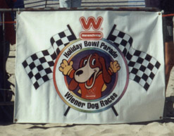 Holiday Bowl Parade Wiener Dog Race Banner