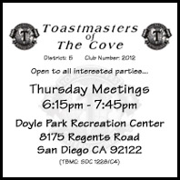 Click Here for Toastmasters of the Cove Photo Gallery